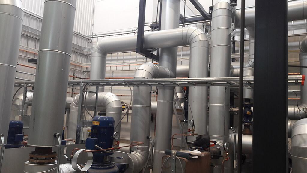 Värmlands isolering på Åres nya panncentral